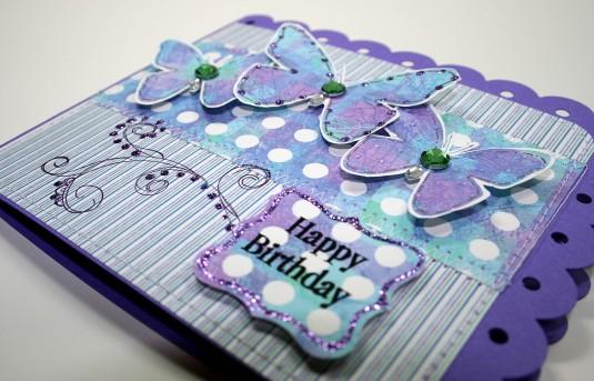 Purple Birthday detail