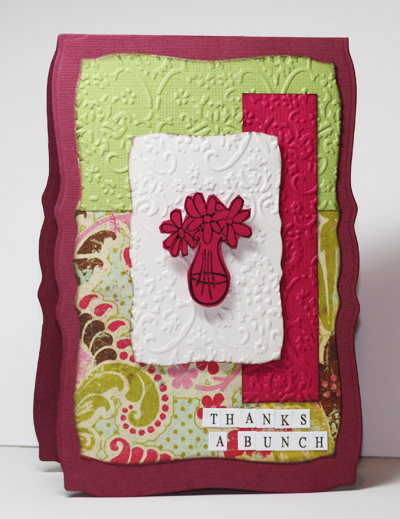 Thanks A Bunch Card by Liz Weber for Card Tag with Kim