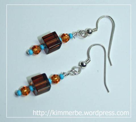 brown earrings