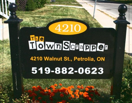 Town Scrapper Sign copy