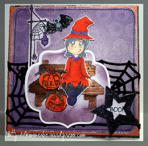 Blog launch Witch Maggie card copy
