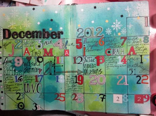 December 12 Journal Calendar