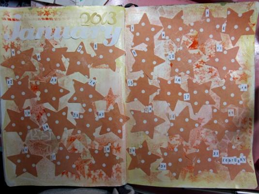 January 2013 Journal Calendar